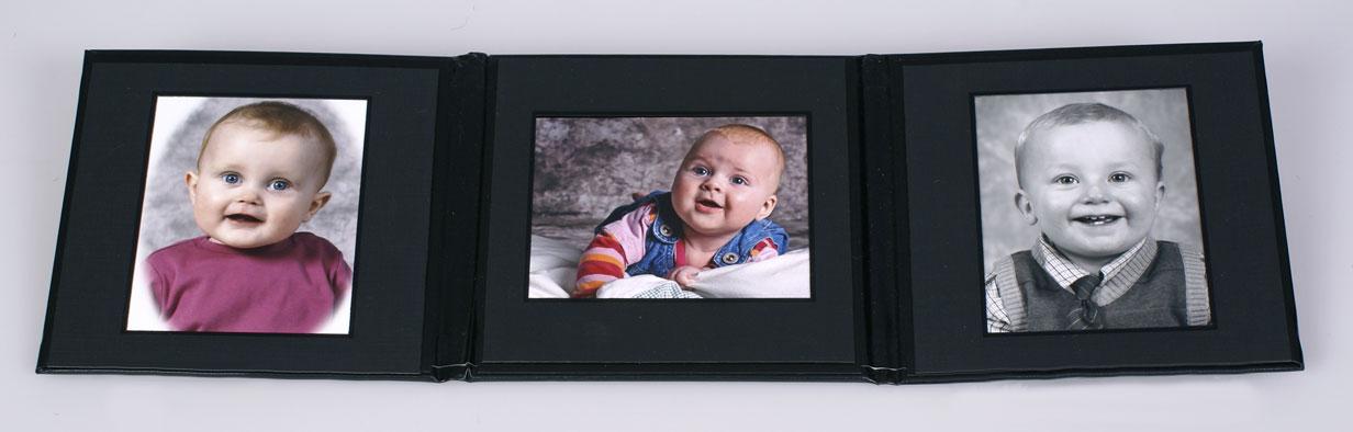 3 fløjet album med billeder i 9 x 12 cm