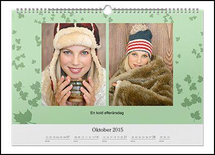 Fotokalender med dine fotos - A4 eller A3 med spiral