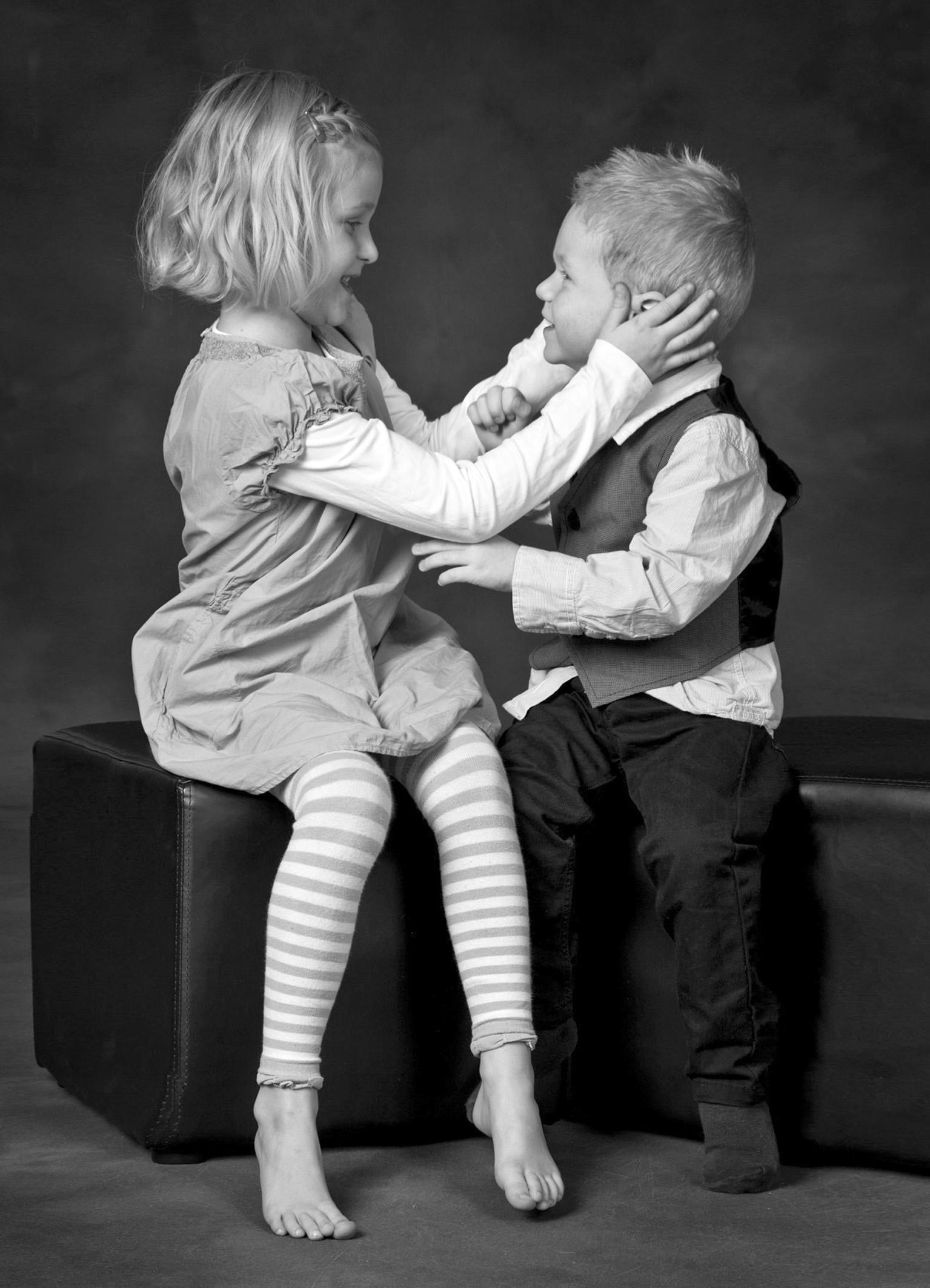 Børnefotograf - Dreng Og Pige