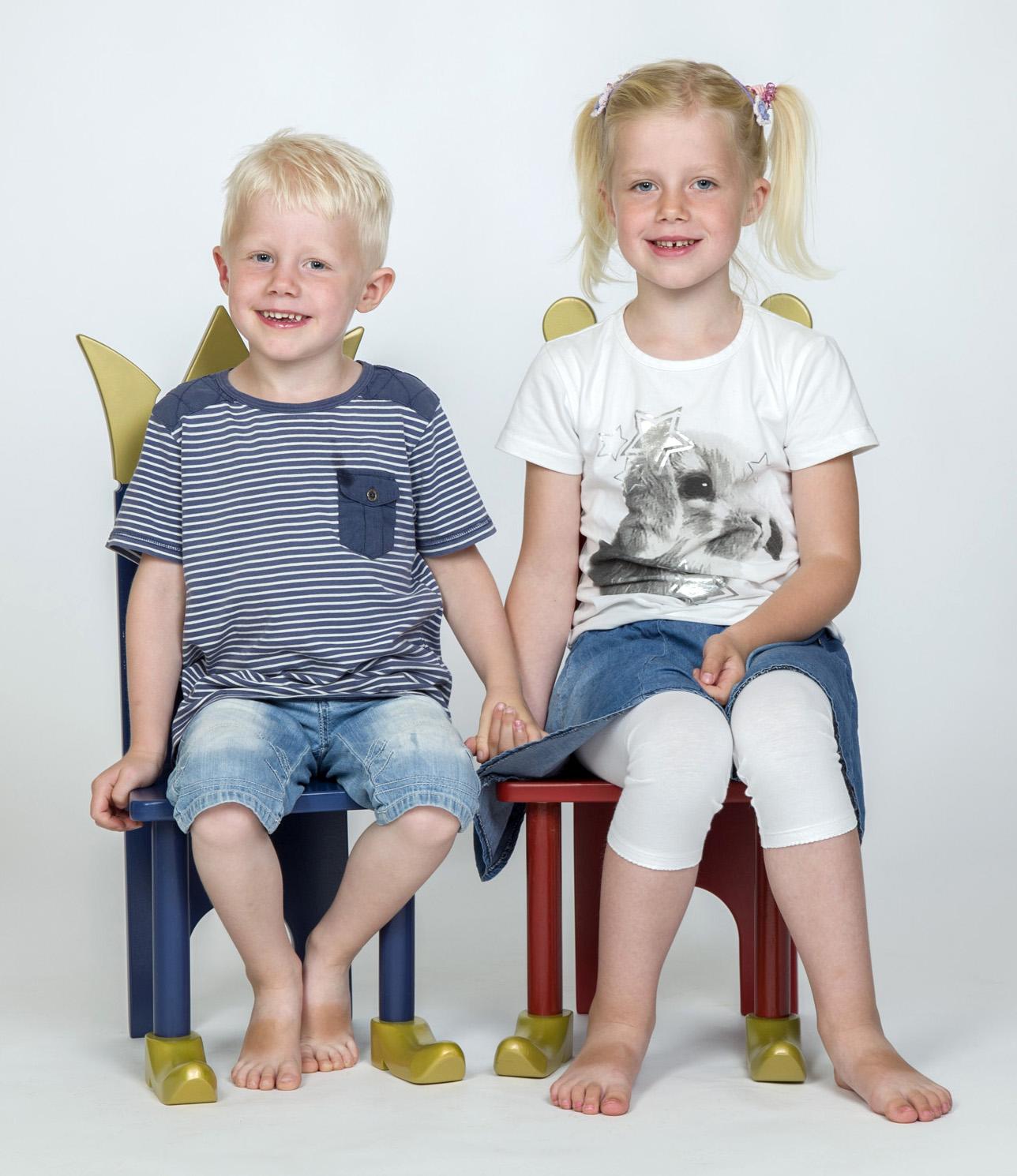 Børnefoto - dreng og pige