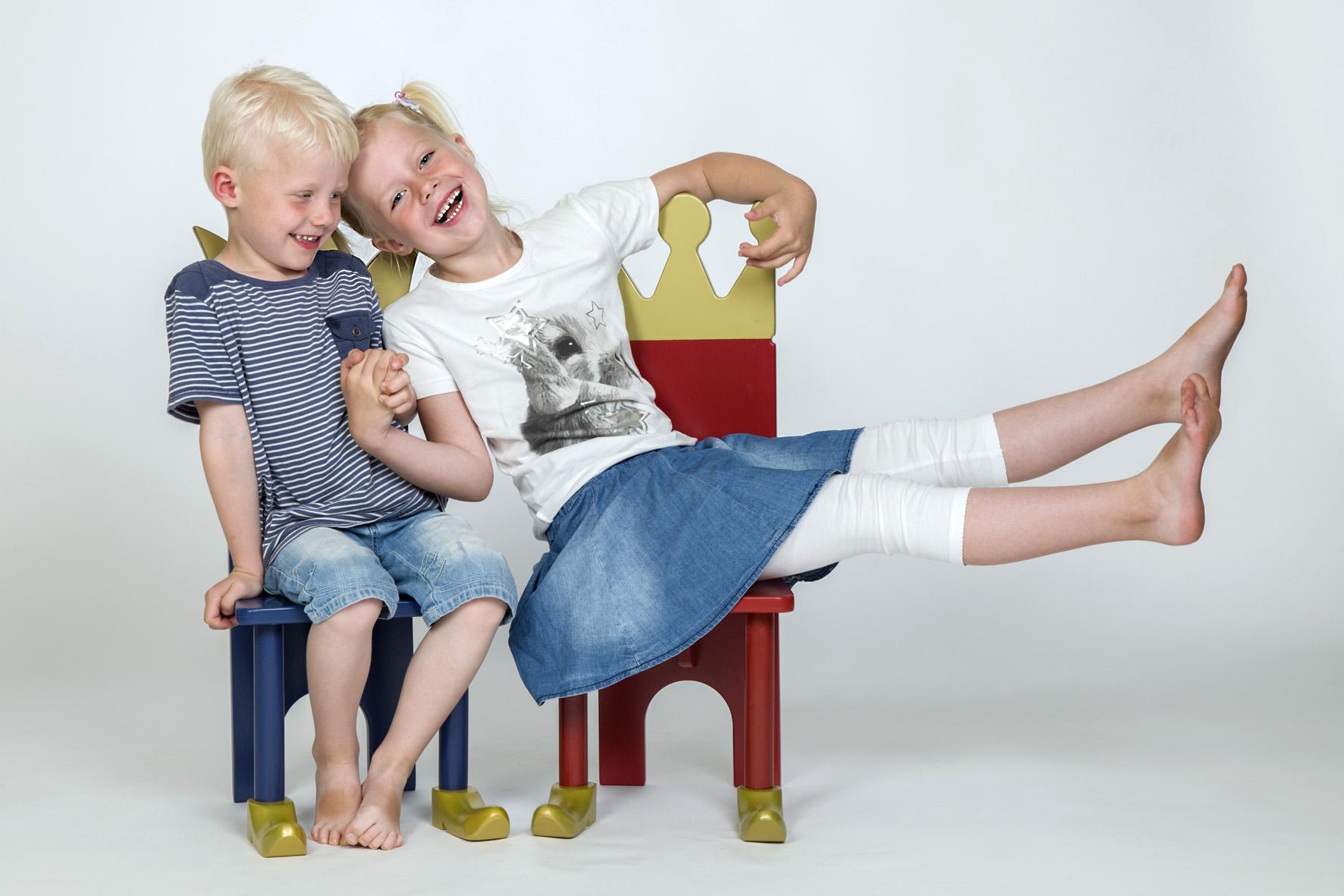 Børnefotografering - 2 Børn Griner