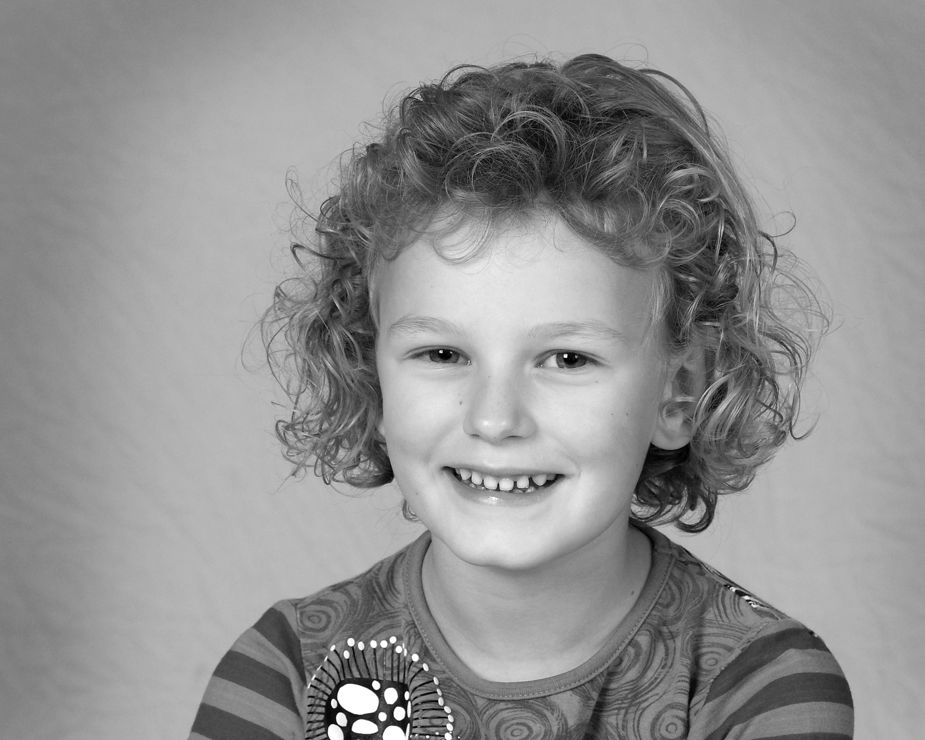 Børnefotografering - Pige Med Krøller