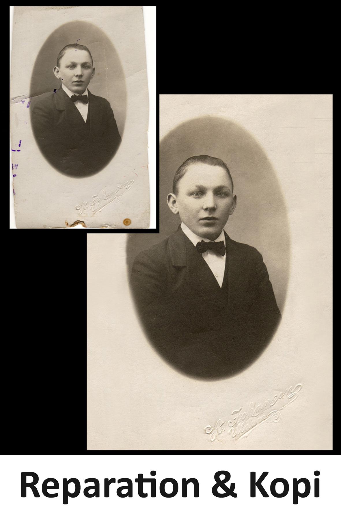 LindFoto.dk - Randers - reparation af gamle fotos og kopiering af billeder uden negativ